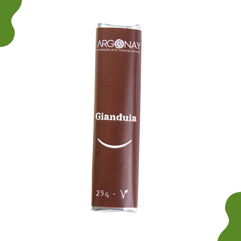 BARRINHA DE CHOCOLATE GIANDUIA VEGANO - 25G